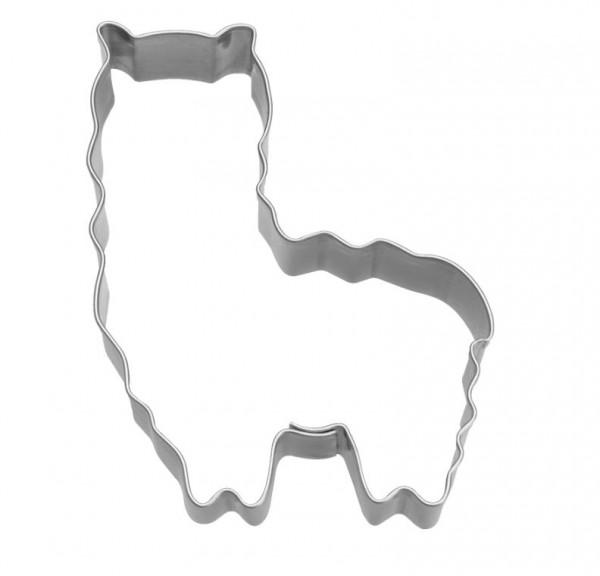 Präge-Ausstechform Alpaka 8 cm aus Edelstahl