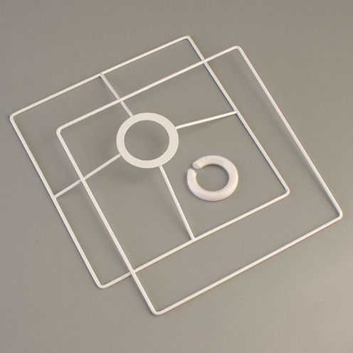 Lampenschirm Gestell Quadrat, weiß