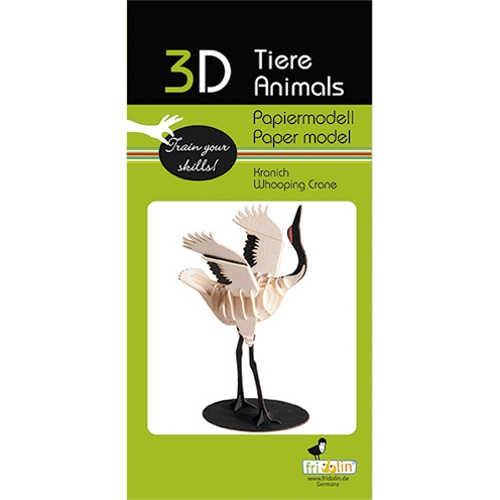 "3D Papiermodell ""Kranich"" zum zusammenbauen"