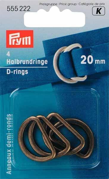 Halbrund-Ringe, D-Ringe von PRYM 555222