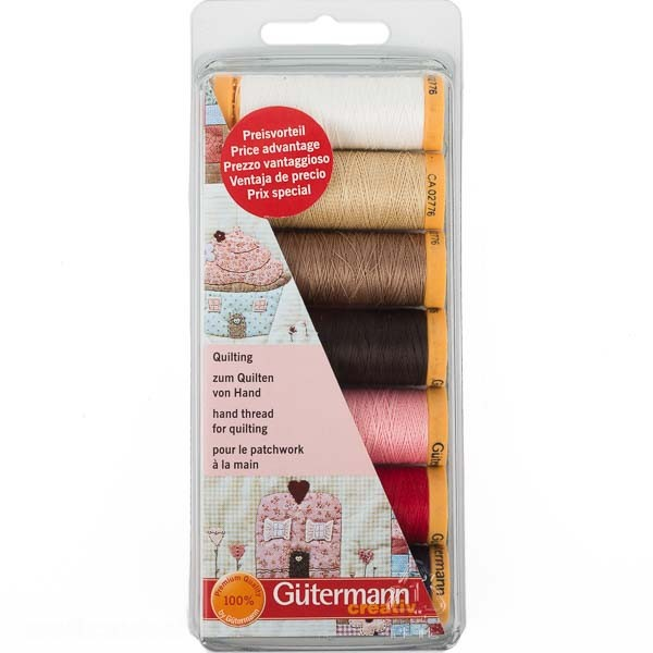 Gütermann Quilting-Set 7x Spulen 80m