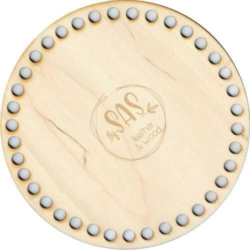 Holzboden, Taschenboden rund für Makramee Projekte