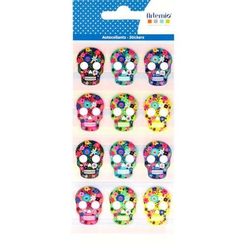 Sticker Totenköpfe, 12 Stück