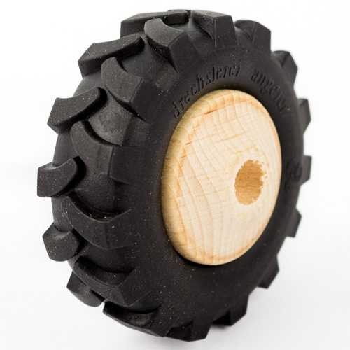 Traktor Holzrad mit Profilgummi Ø 72mm