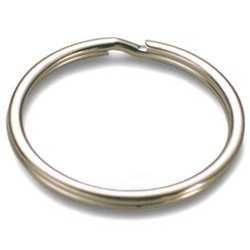 Standard Schlüsselringe Ø 16 mm, vernickelt, gehärtet, Silberfarbig 100 Stk.