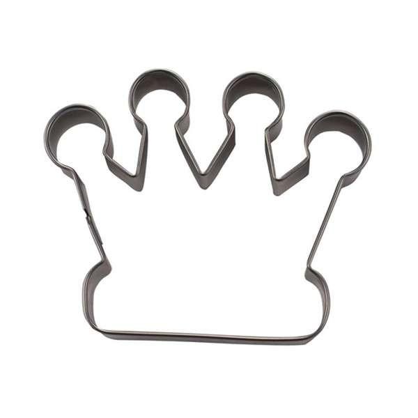 Präge-Ausstechform Krone 4,5 cm aus Edelstahl