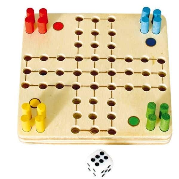 """Mini Game """"LUDO"""" 9 x 9 cm"""