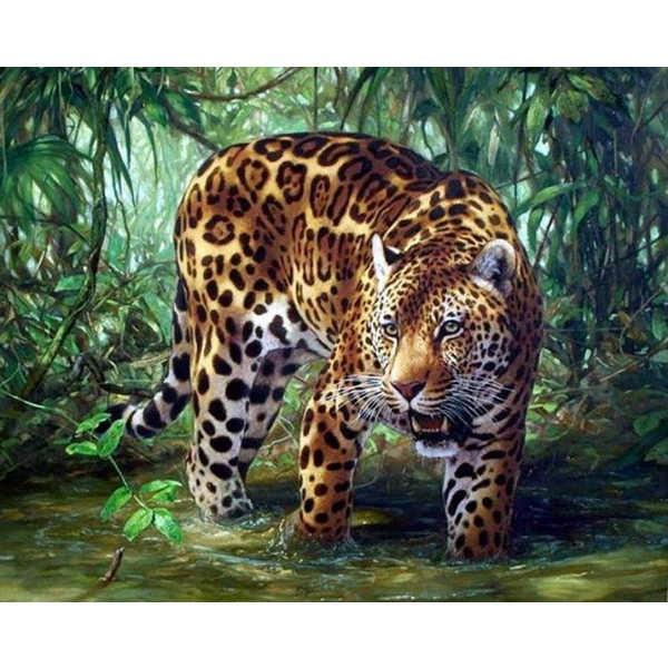 Diamond ART, Daimond Painting 40x30cm, JAGUAR