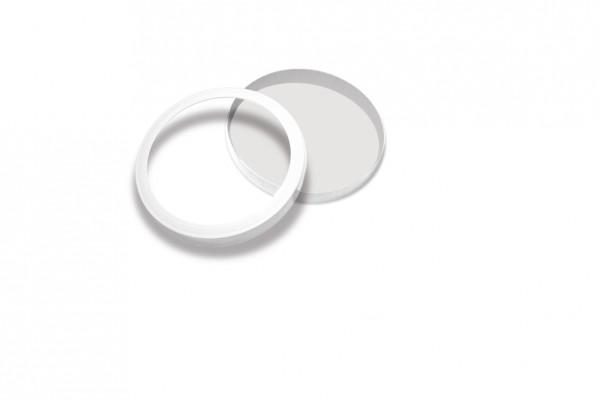 Laternendeckel mit Boden Ø 110 x 30 mm, weiß