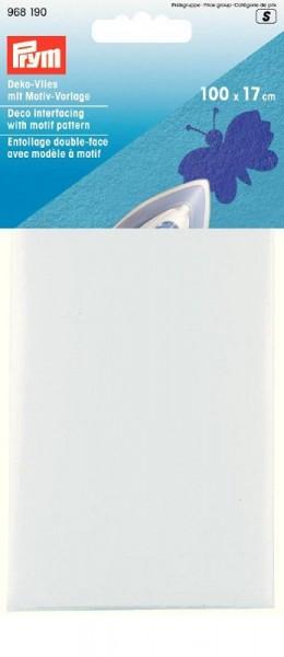 Deko-Vlies mit Motiven 100x17cm weiss PRYM 968190 wollzauber