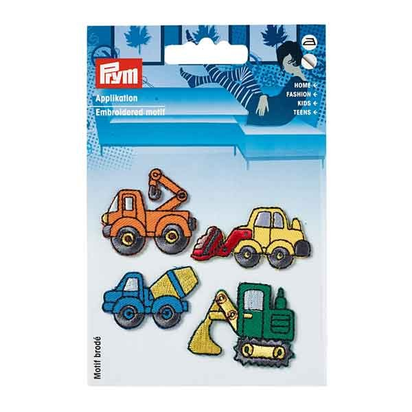PRYM Applikation Baufahrzeuge, selbstklebend und aufbügelbar