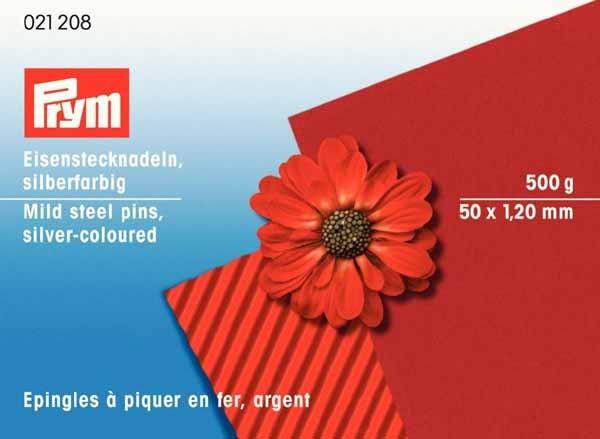 PRYM Eisenstecknadeln 50 x 1,2 mm, 500g silberfarbig