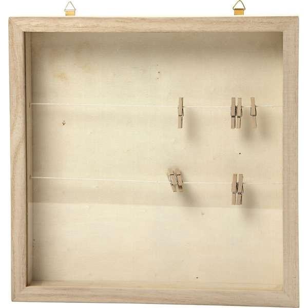 3D- Rahmen aus Holz, Tiefe 35 mm, 23x23 cm