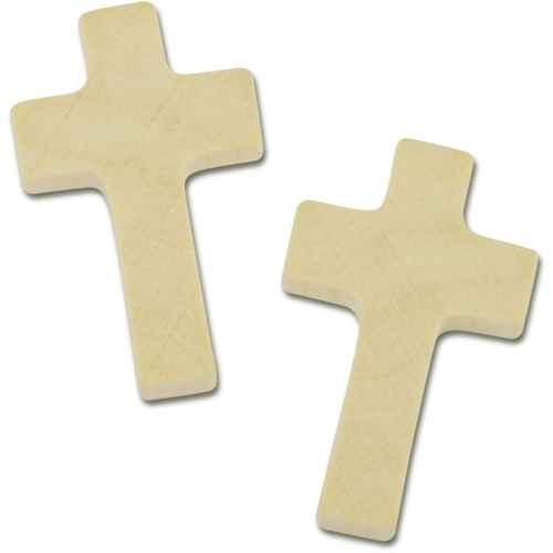 Holzkreuz natur für Rosenkranz, 35 x 21 x 5mm