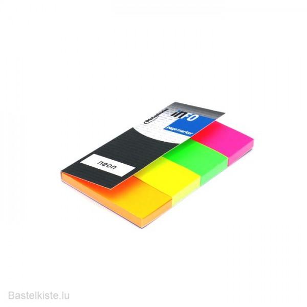 Haftnotizen 20x50mm in 4 NEON Farben 4x50 Blatt