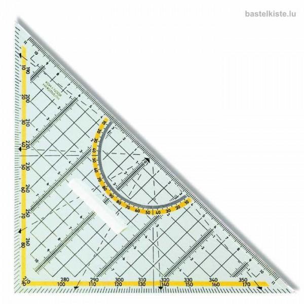 Geodreieck mit Griff aus Kunststoff 22cm Skala