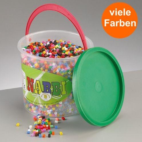 Nabbi® Bügelperlen Eimer 5.000 Stk. Ø 5x5 mm Mix