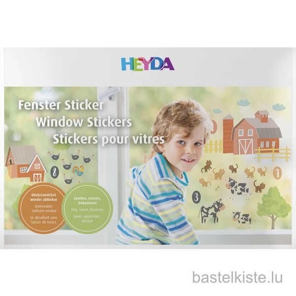 """Window Sticker, Fenster Sticker """"Zählen / Bauernhof"""""""