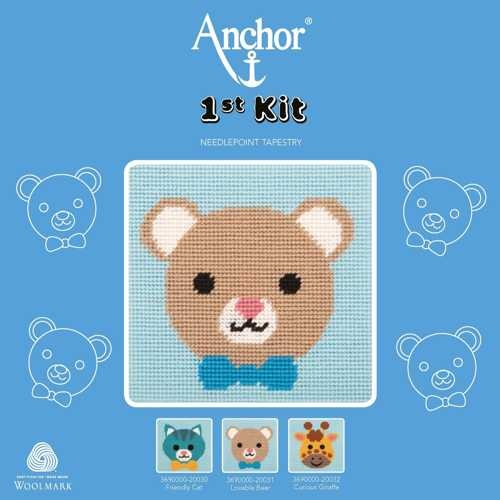 """Anchor Stickpackung, 1st KIT """"Lovable Bear"""""""