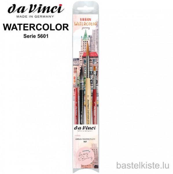 Da Vinci 4-teiliges Aquarellpinsel-Set, Serie 5601