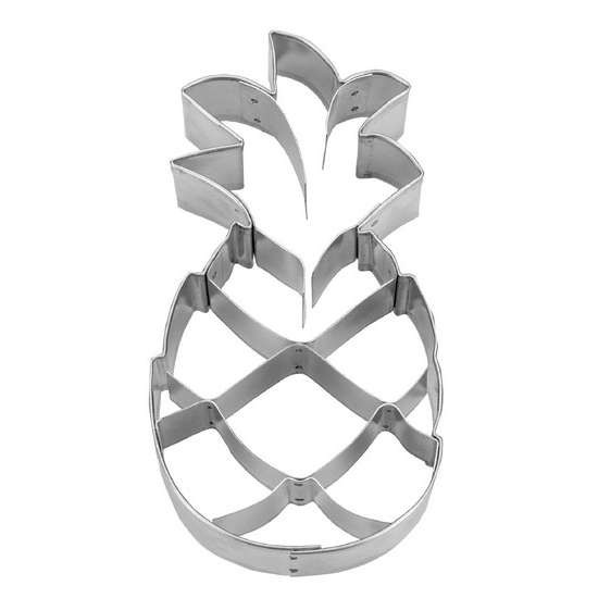 Präge-Ausstechform Ananas 9,5 cm aus Edelstahl