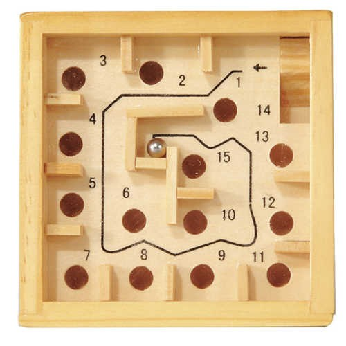 Mini Labyrinth Kugelspiel 9 x 9 x 2,5 cm