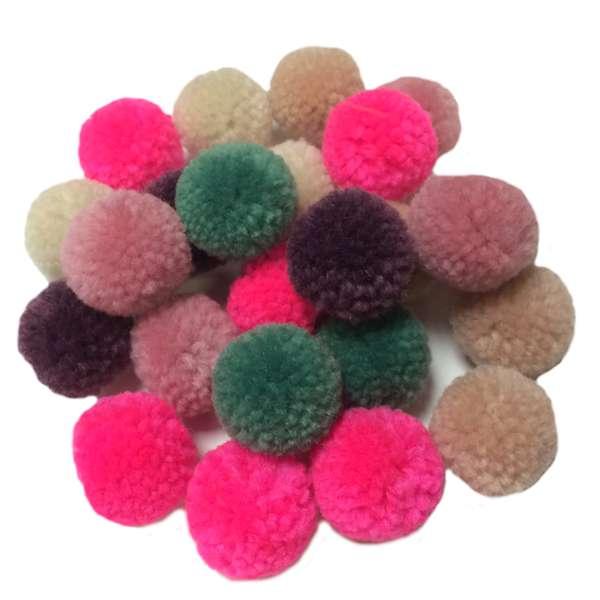 Pompons aus Garn