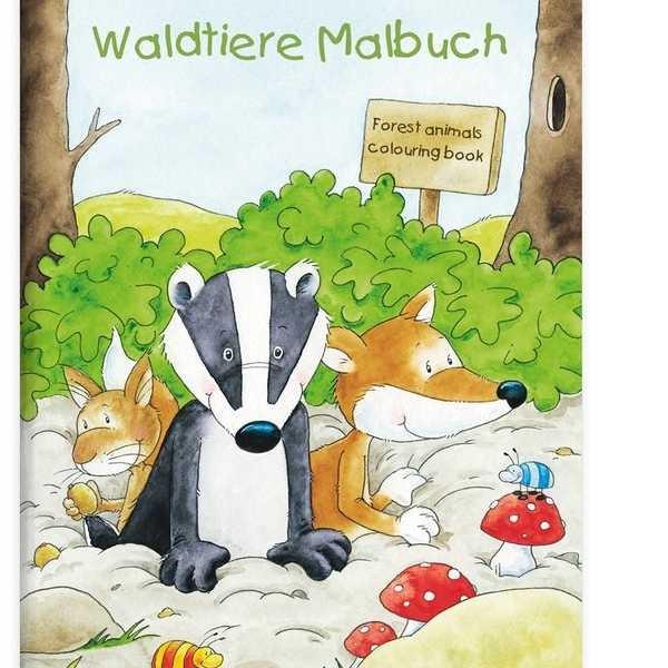 Malbuch Waldtiere DIN A4, 16 Seiten
