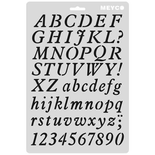 """Buchstaben Schablone """"ABC"""", 25mm"""