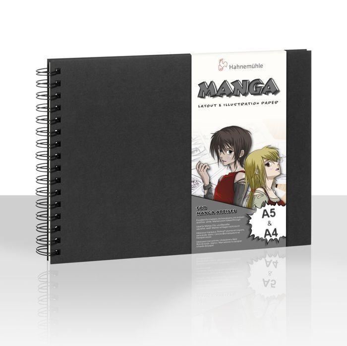 Hahnemühle Manga Layout & Illustration Book A5 & A4 Spiralbindung, 75 Blatt