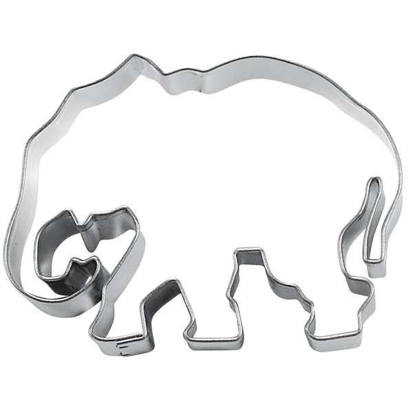 Präge-Ausstechform Elefant 7,0 cm aus Edelstahl