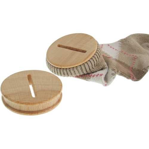 Sparstrumpfverschluss aus Holz Ø 57mm