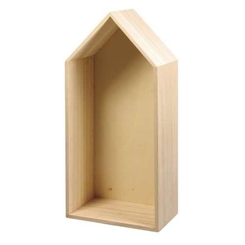 Holz Rahmen Haus 293 x 143 x 80 mm