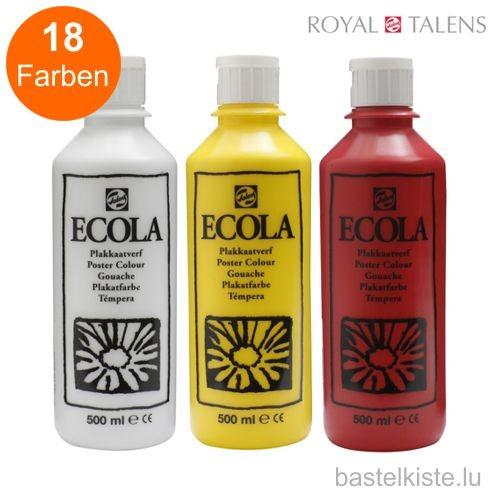 Ecola Gouache, Plakatfarbe, 500 ml
