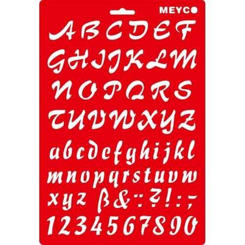 """Buchstaben & Zahlen Schablone """"ABC"""", 25 mm"""