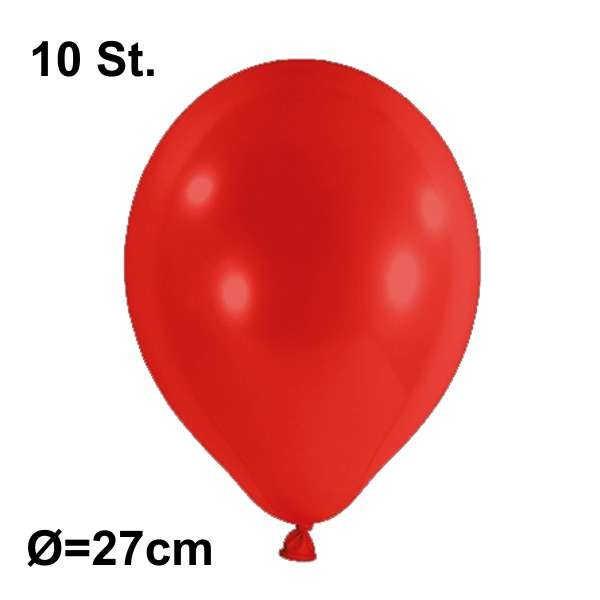 Luftballon Ø 27cm Farbe rot, 10 Stück