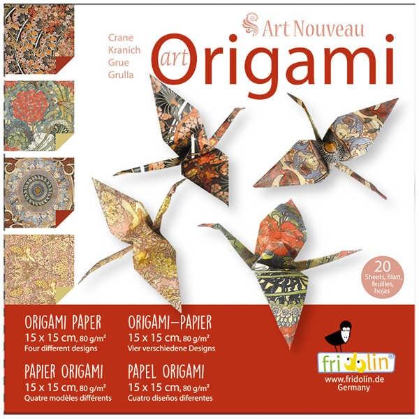 "Origami Faltblätter 80g/m² 15x15cm - 20 Blatt ""Art Nouveau"""
