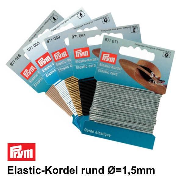 Prym Elastic-Kordel rund Ø 1,5mm, 3m