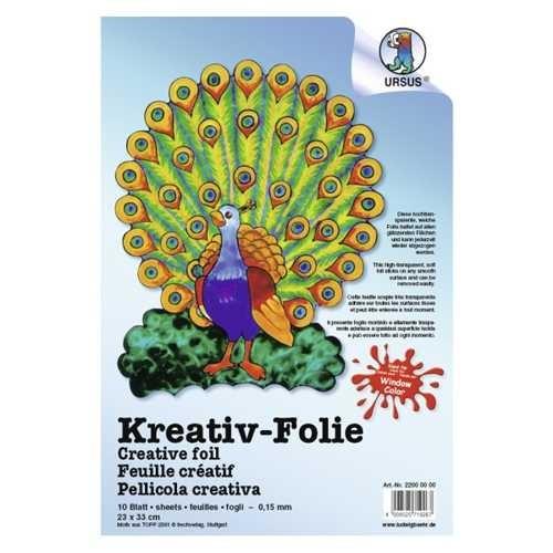 Kreativ-Folie, Haftfolie 23x33 cm, transparente Folie für Window Color