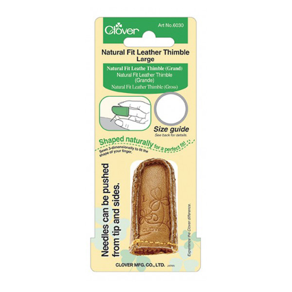 CLOVER Lederfingerhut mit natürlicher Passform