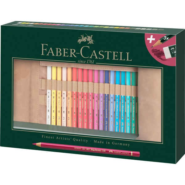 Polychromos Colour Pencils 30er Set + 3x Bleistifte + Radierer