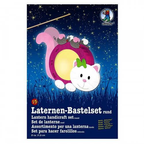 Laternen-Bastelset rund Ø 218mm, KÄTZCHEN