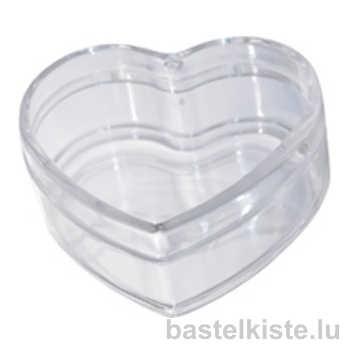Kunststoffherz transparent als Dose