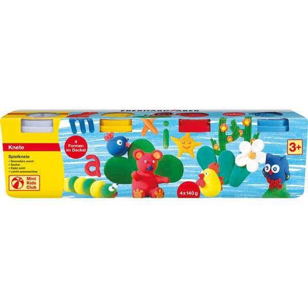 Spielknete 4er Set weiß, gelb, rot, blau