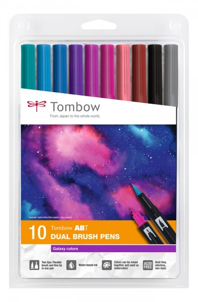 ABT DUAL BRUSH PENS 10er Set Galaxy Colours