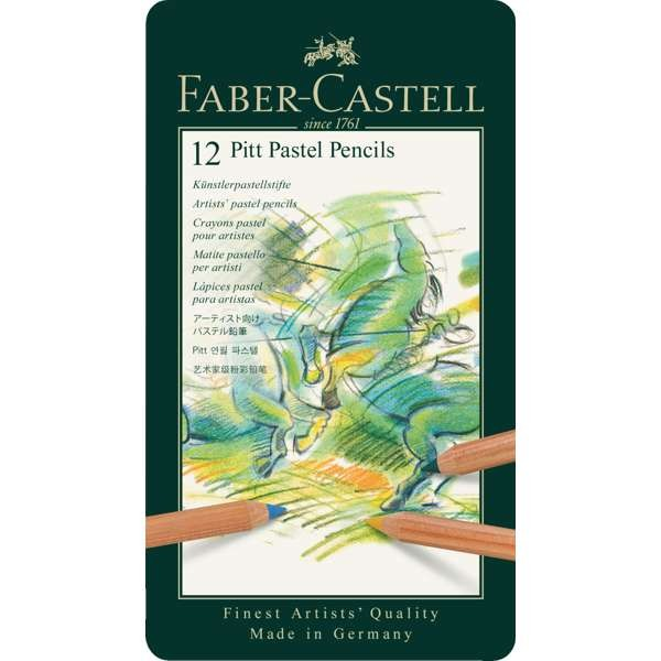 12er Pitt Pastellstifte im Metalletui