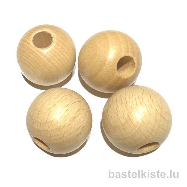 Runde Holzperlen Ø 30 mm NATUR, für Macrameé