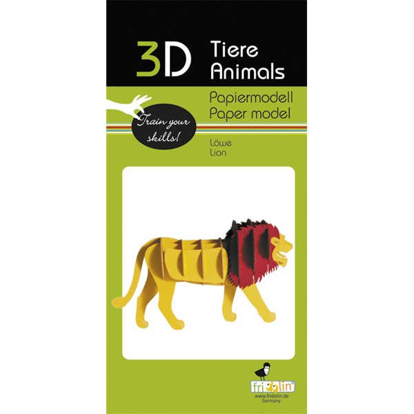 "3D Papiermodell ""Löwe"" zum zusammenbauen"