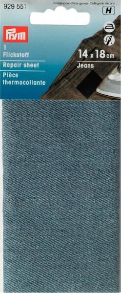 PRYM 929551 Flickstoff Jeans bügeln12x45cm hellblau