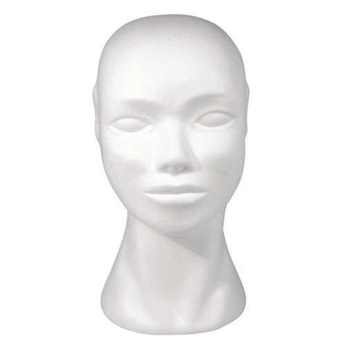Styropor-Kopf weiblich